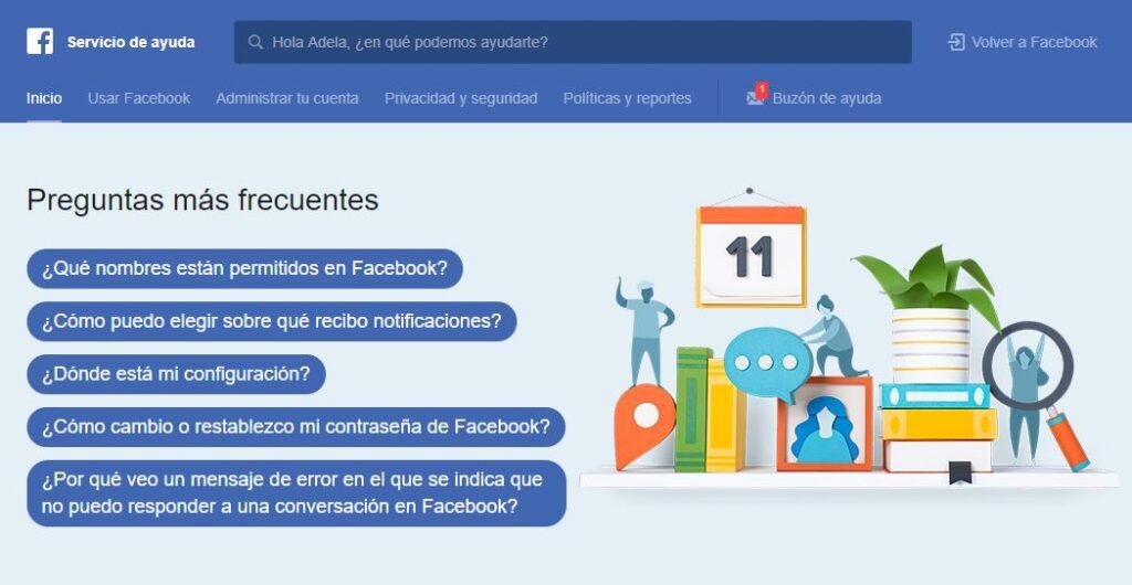 ponerse en contacto con facebook