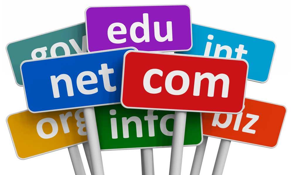 5 tipos de dominios diferentes utilizados en internet